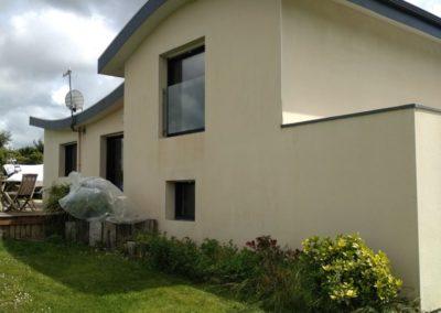 Ravalement de façade, Portsall Ploudalmezeau, peinture, lavage, toiture, mur