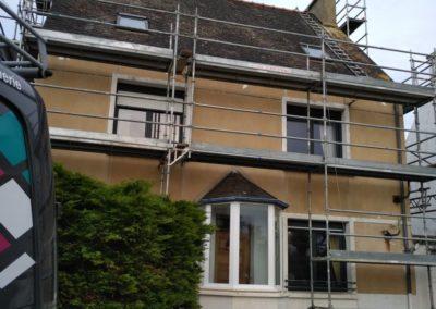 Ravalement maison de facade maison 1 avant - Ravalement de façade