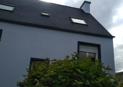 peinture toiture eternite ploudalmezeau après - Ravalement de façade