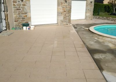 terrasse carrelage piscine 2 1 - Terrasse & clôture